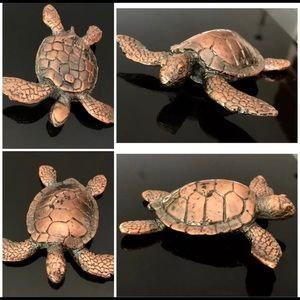 New! Hawaii bronze brass heavy sea turtle Figurine